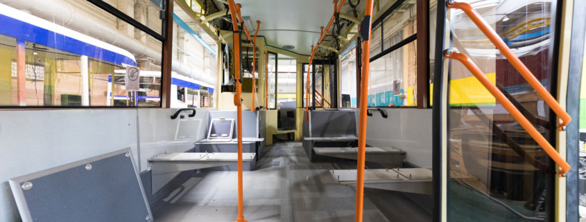bus assembly with ms polymer adhesives and sealants