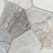 grey cementitious grout for natural stone tiles applied