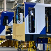 train assembly with ms polymer adhesives and sealants