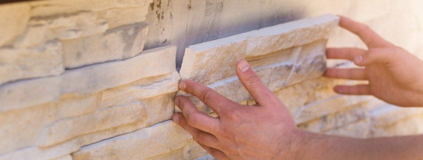 installing decorative tiles using masonry veneer mortar
